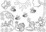 Coloring Insect Bumblebee Animal sketch template