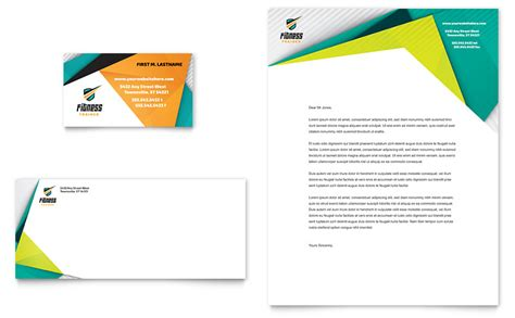 Fitness Trainer Business Card & Letterhead Template Business Card Folder Nz Cards Warehouse Stationery How To Order Online Name On Credit Statement Management With Company Pocket Notepad Holder Organize By Or