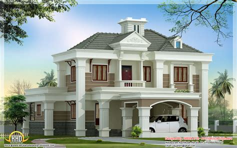 beautiful double floor home design  sqft kerala