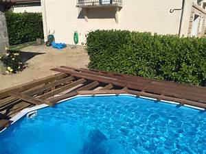 Piscine A Enterrer : piscine hors sol semi enterr e avec terrasse en bois ~ Zukunftsfamilie.com Idées de Décoration
