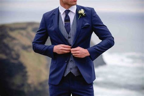 groomed  stylish suits   summer wedding