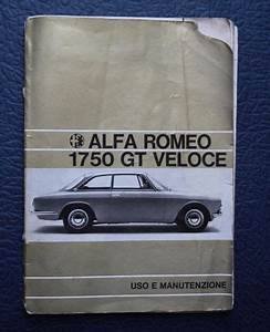 Buy Alfa Romeo 1750 Gt Veloce User Manual Motorcycle In