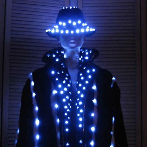 led light suit led luminous western style clothes for performance