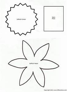 7 best images of printable cut out flower patterns With paper cut out templates flowers