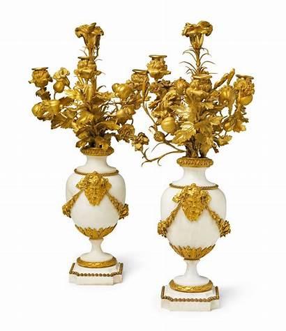 Marble Candelabra Bronze Period Decorative Gilt Lot