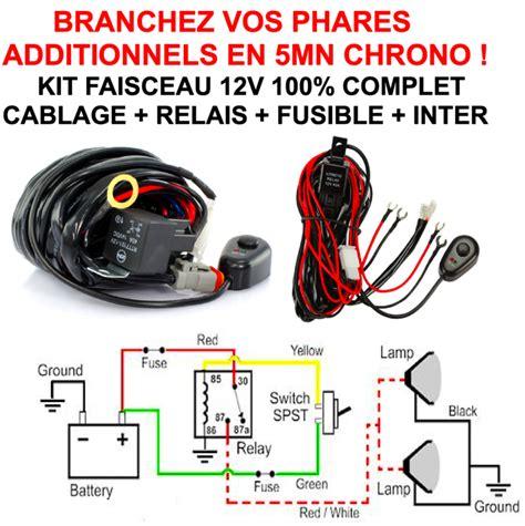 norme siege auto faisceau 12v complet relais fusible interrupteur câblage
