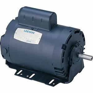 Leeson Instant Reversing Electric Motor  U2014 1  2 Hp  1 625 Rpm  115 Volts  Single Phase  Model