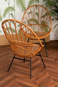 Chaise Rotin Et Metal : chaise en rotin vintage mobilier en rotin fauteuil en rotin vintage ancien pi tement en ~ Teatrodelosmanantiales.com Idées de Décoration