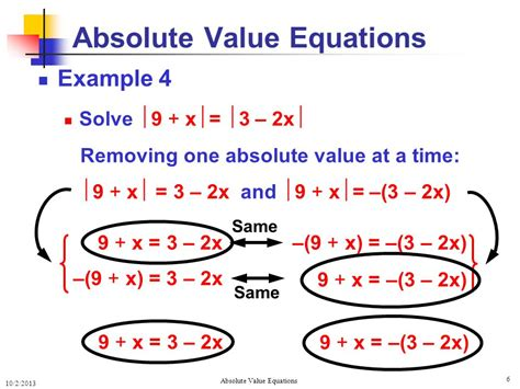 Solving Absolute Value Equations Solving Absolute Value Equations  Ppt Video Online Download