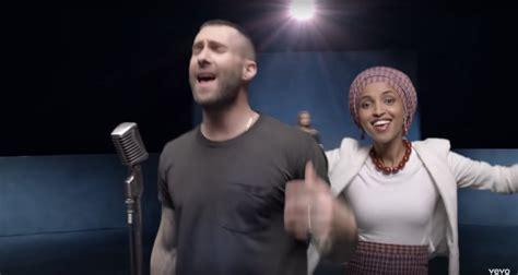 Ilhan Omar Celebrities In Maroon 5 Girls Like You Music Video Popsugar Celebrity Australia