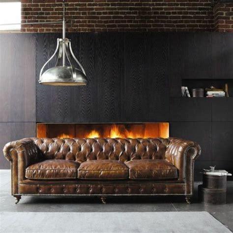 canap chesterfield marron le canapé capitonné en 40 photos pleines d 39 idées