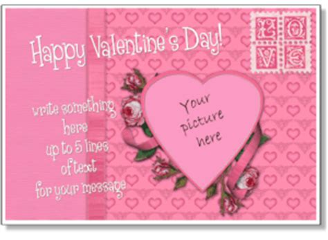 valentines day templates  photo cards add