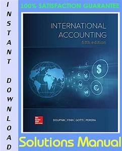 International Accounting Timothy Doupnik Hector Perera Solution Manual