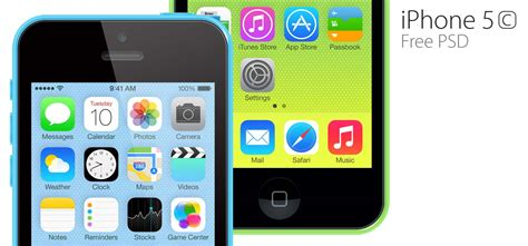 iphone 5c free free iphone 5c psd iceflowstudios design