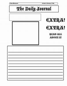 free printable newspaper template for students - newspaper template for kids cyberuse