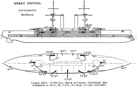 Wwi Ship Diagram by Swiftsure Class Battleship