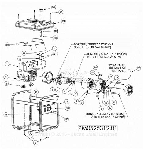 powermate formerly coleman pm0525312 01 parts diagram for