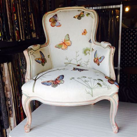 Antique Furniture Upholstery by Butterfly Louis Chair Upholstered In Our Customer S Own