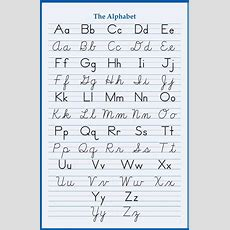 Alphabet Handwriting Cursive Poster 24 X 36 Inch School Elementary Letters Abc Ebay