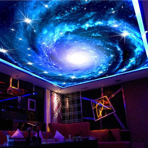 beibehang galaxy large star sky photo wall paper  walls