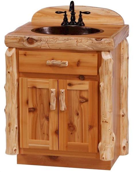 Rustic Bathroom Furniture by Cedar Log Bathroom Vanity From The Log Furniture Store