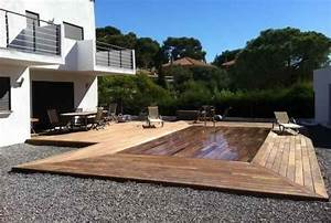 la piscine a fond mobile qui devient terrasse http www With piscine a fond mobile
