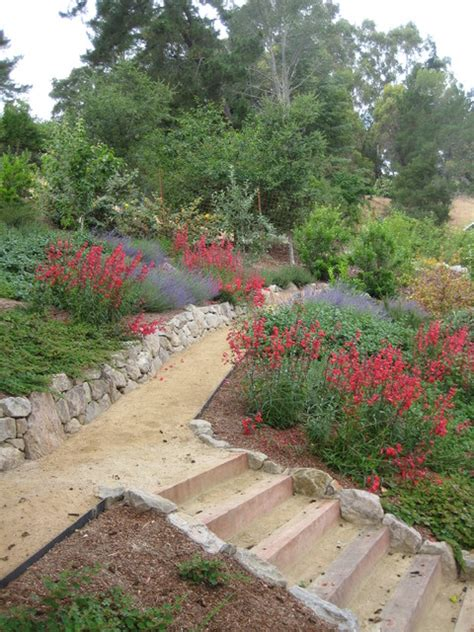 landscaping with crushed granite decomposed granite path through hillside garden modern landscape san francisco by calvin