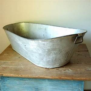 Antique, Industrial, Metal, Galvanized, Wash, By, Countryanthropology