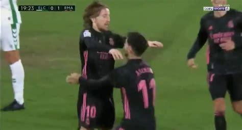 Real Madrid vs Elche EN VIVO: ver GOL de Modric para el 1 ...