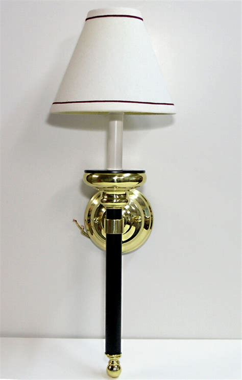 Polished Brass Sconce - light sconce w shade 1 bulb polished brass wall mount 22