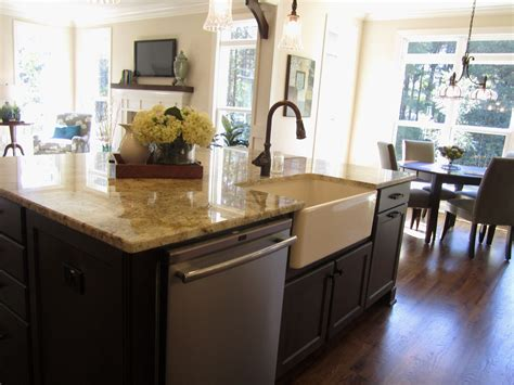 Elegant Kitchen Islands With Sink And Dishwasher  Gl