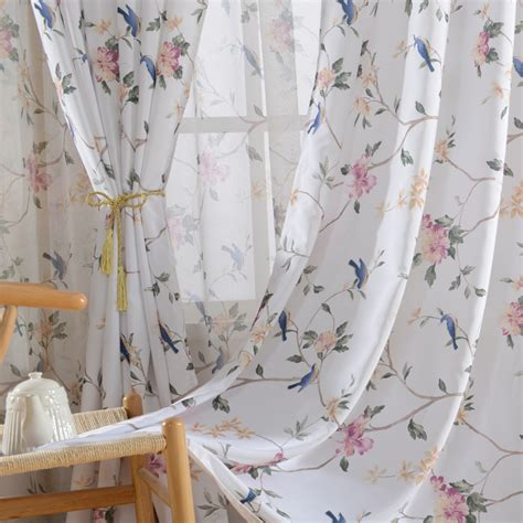 floral print drapes white floral print poly cotton blend pinch pleated country