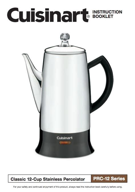 Cuisinart coffee maker instructions can offer you many choices to save money thanks to 25 active results. Cuisinart coffee percolator instructions