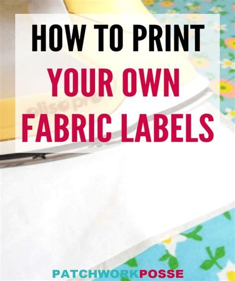 print   fabric labels tutorial