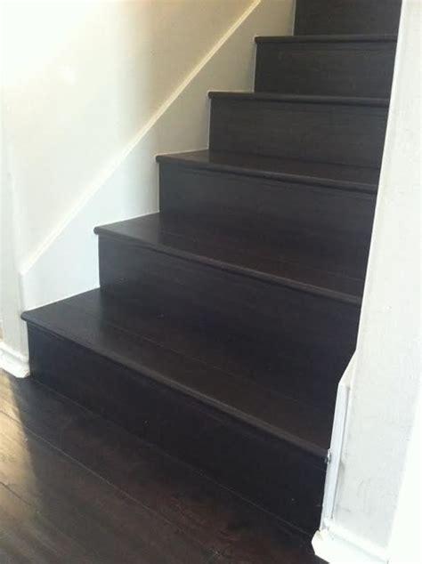 espresso laminate  stairs transitional houston