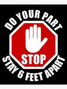 Baby Feet Size Chart Quot Do Your Part Stay 6 Feet Apart Sign Social Distancing
