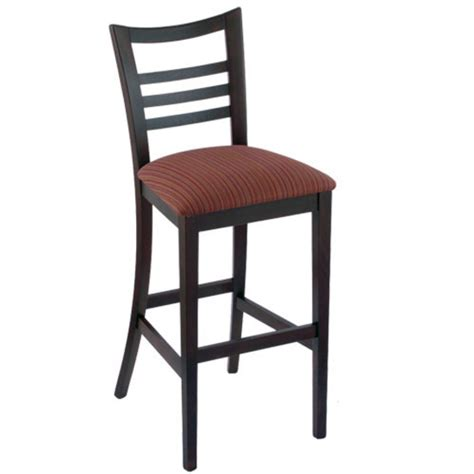 ladder back bar stool with fabric or vinyl seat