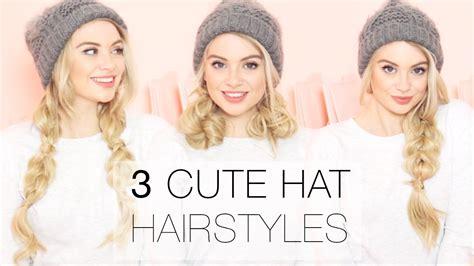 3 cute winter hat hairstyles using hair extensions l milk