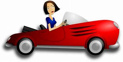 Clipart Driver Fast Female Driving Woman Brunette