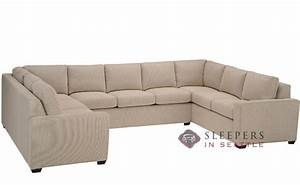customize and personalize geo true sectional fabric sofa With u shaped sectional with sleeper sofa