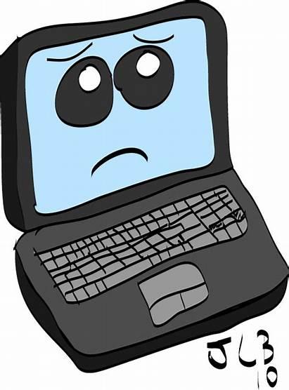 Sad Laptop Cartoon Computer Clipart Deviantart Jenn