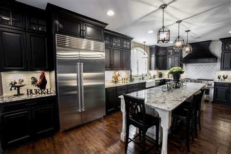kitchen with black and white cabinets beautiful black white kitchen designer q a callier 9627