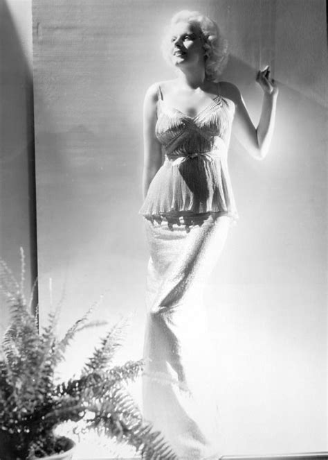 Jean Harlow In A Publicity Still For The Girl From Missouri Source Tcm Jean Harlow The