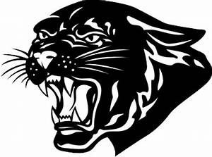 Panther clipart black and white - Pencil and in color ...