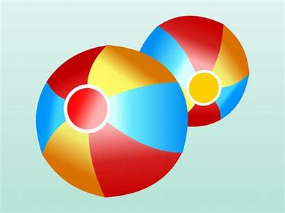 Beach Balls Ball Clipart Cartoon Vector Cliparts