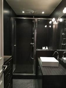 salle de bain noir ad et moi With salle de bains noire