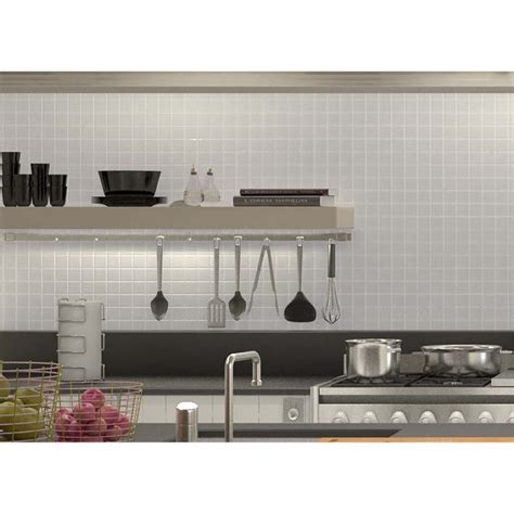glazed porcelain tile deco mesh kitchen  splash white