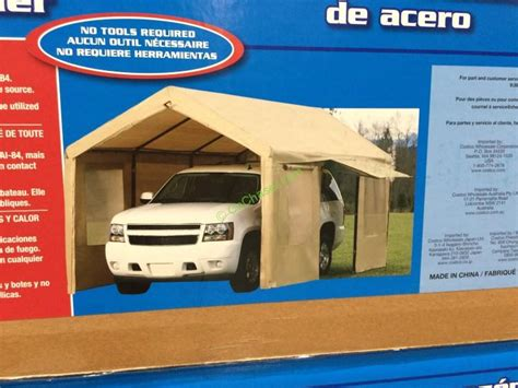 costco  canopy steel frame tan cover  side wall  costcochaser