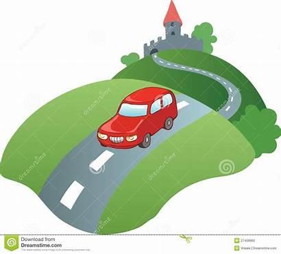 Road Clipart Cartoon Illustration Trip Vector Royalty