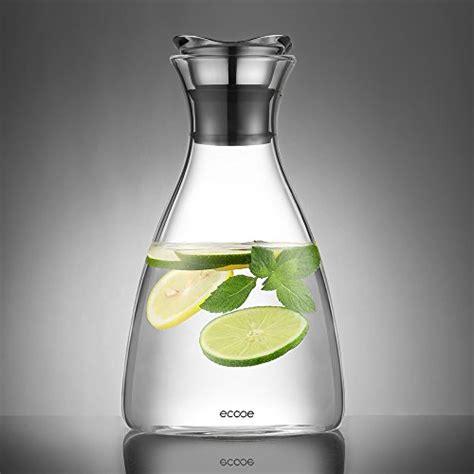 glaskaraffe 5 liter ecooe glaskrug 1 5 liter glaskaraffe wasserkrug mit